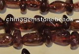 CGA489 15.5 inches 4*8mm – 4*10mm nuggets natural red garnet beads
