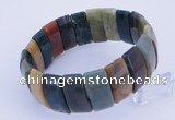 CGB233 8 inches 12*25mm rectangle Indian agate gemstone bracelet