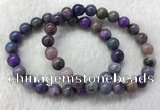 CGB2605 7.5 inches 8mm round natural sugilite beaded bracelets