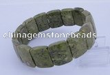 CGB280 7.5 inches 13*18mm faceted rectangle green lace gemstone bracelet