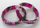 CGB3167 7.5 inches 12*15mm rectangle agate bracelets wholesale