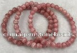 CGB4128 7.5 inches 7mm round rhodochrosite beaded bracelets