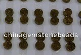 CGC109 12mm flat round druzy quartz cabochons wholesale