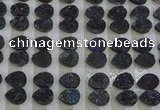 CGC235 10*14mm flat teardrop druzy quartz cabochons wholesale