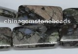 CGE04 15.5 inches 15*30mm rectangle glaucophane gemstone beads