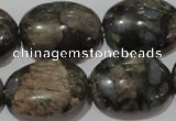 CGE135 15.5 inches 18*25mm oval glaucophane gemstone beads