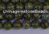 CGJ351 15.5 inches 6mm round green bee jasper beads wholesale
