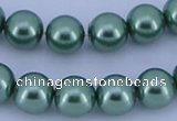 CGL231 2PCS 16 inches 25mm round dyed plastic pearl beads wholesale