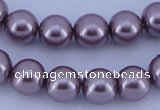 CGL390 5PCS 16 inches 20mm round dyed plastic pearl beads wholesale