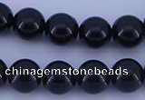 CGL906 5PCS 16 inches 12mm round heated glass pearl beads wholesale