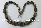 CGN128 22 inches 10*14mm - 20*30mm nuggets yellow tiger eye necklaces