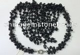 CGN833 20 inches stylish black agate gemstone statement necklaces