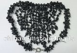 CGN834 20 inches stylish black obsidian statement necklaces
