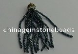 CGP440 2*3mm faceted rondelle handmade chinese crystal tassel pendants