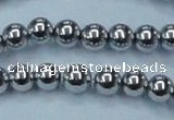 CHE427 15.5 inches 12mm round plated hematite beads wholesale