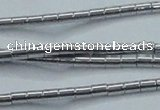 CHE594 15.5 inches 2*2.5mm tube plated hematite beads wholesale