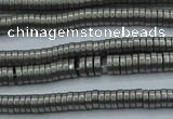CHE680 15.5 inches 1*4mm tyre matte plated hematite beads
