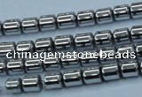 CHE786 15.5 inches 4*4.5mm drum plated hematite beads wholesale
