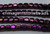CHE861 15.5 inches 3*3mm dice platedhematite beads wholesale