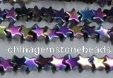 CHE940 15.5 inches 4mm star plated hematite beads wholesale