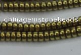 CHE968 15.5 inches 2*4mm rondelle plated hematite beads wholesale