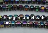 CHE985 15.5 inches 4*4mm plated hematite beads wholesale