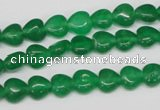 CHG04 15.5 inches 8*8mm heart dyed white jade beads wholesale