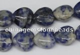 CHG43 15.5 inches 14*14mm heart sodalite gemstone beads wholesale