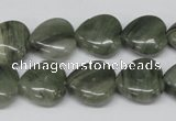 CHG46 15.5 inches 14*14mm heart silver leaf jasper beads wholesale