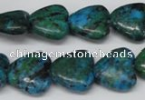 CHG61 15.5 inches 16*16mm heart dyed chrysocolla beads wholesale