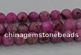 CHM220 15.5 inches 4mm round dyed hemimorphite beads wholesale