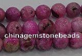 CHM222 15.5 inches 8mm round dyed hemimorphite beads wholesale