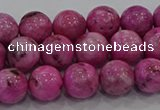 CHM223 15.5 inches 10mm round dyed hemimorphite beads wholesale