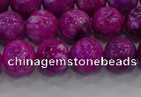 CHM232 15.5 inches 12mm round dyed hemimorphite beads wholesale