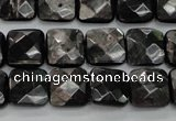 CHS26 15.5 inches 12*12mm faceted square natural hypersthene beads