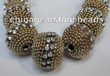 CIB420 22mm round fashion Indonesia jewelry beads wholesale