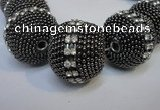 CIB426 25mm round fashion Indonesia jewelry beads wholesale