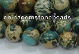 CIJ04 15.5 inches 14mm round impression jasper beads wholesale