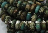 CIJ08 15.5 inches 6*10mm rondelle impression jasper beads wholesale
