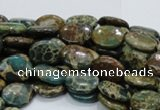 CIJ11 15.5 inches 8*10mm oval impression jasper beads wholesale