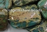 CIJ22 15.5 inches 30*40mm rectangle impression jasper beads wholesale