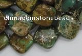 CIJ23 15.5 inches 16*16mm diamond impression jasper beads wholesale