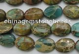 CIJ35 15.5 inches 10*14mm oval impression jasper beads wholesale