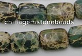 CIJ36 15.5 inches 13*18mm rectangle impression jasper beads wholesale