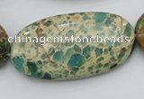 CIJ38 15.5 inches 25*50mm oval impression jasper beads wholesale