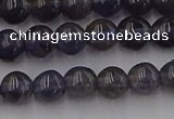 CIL100 15.5 inches 4mm round iolite gemstone beads wholesale