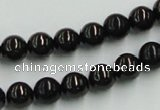 CJB03 16 inches 8mm round natural jet gemstone beads wholesale