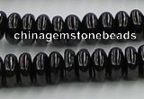 CJB11 16 inches 6*12mm rondelle natural jet gemstone beads wholesale