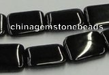 CJB27 16 inches 15*20mm rectangle natural jet gemstone beads wholesale