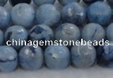 CKC704 15.5 inches 12mm faceted round imitation blue kyanite beads